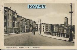 Veneto-vicenza-bassano Del Grappa Via Xx Settembre Veduta Animata Anni 30/40 - Altre Città