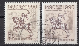 """1486 Austria 1592  1990 """"Il Piccolo Corriere """"  Incisione A Bulino Di A. Durer Paintings Engraving  Osterreich Viaggiato"""