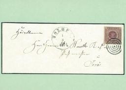 First Danish Stamp On Cover.   Denmark     # 05452 - Briefmarken (Abbildungen)