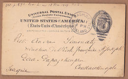 AC - UNITED STATES OF AMERICA - WASHINGTON TO CONSTANTINOPLE 11.09.1901 POST CARD