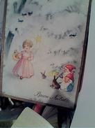 BUON NATALE ANGELO E GNOMI  ILLUSTRATA V1962  FX10946 - Natale