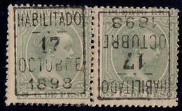PUERTO RICO 178 MNH ** PAREJA CON SOBRECARGA INVERTIDA. NO CATALOGADO. MUY RARO - Puerto Rico