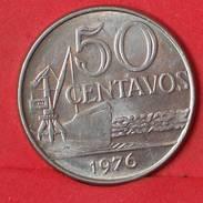 BRAZIL 50 CENTAVOS 1976 -    KM# 580b - (Nº17390) - Brésil
