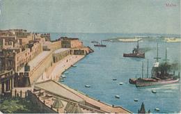 Künstlerkarte AK Malta Valetta ? Gozo Victoria ? Hafen Harbour Port Puerto Zitadelle Cittadella ? - Malta