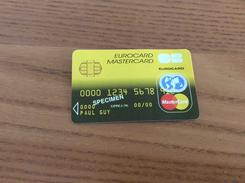 """Carte * EUROCARD MASTERCARD Fictif """"SPECIMEN"""" - Cartes De Crédit (expiration Min. 10 Ans)"""