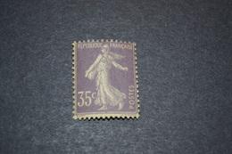 France Semeuse Camée 35 Cent Violet  N° 136 Neuf Sans Charniere Cote 425 - France