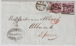 1871, Paar Nach Spanien, Nr. 30  , #7147 - Briefe U. Dokumente