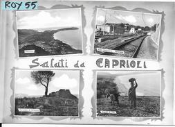 Campania-salerno-caprioli Scalo Ferroviario Vedute Caprioli Anni 50/60 Saluti Da - Italia