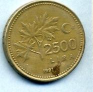 1991 2500 LIRAS - Turkey