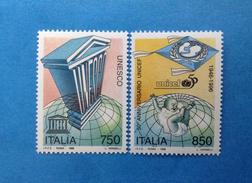 1996 ITALIA FRANCOBOLLI NUOVI STAMPS NEW MNH** - UNESCO E UNICEF - - 6. 1946-.. Repubblica