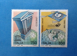 1996 ITALIA FRANCOBOLLI NUOVI STAMPS NEW MNH** - UNESCO E UNICEF - - 1946-.. République