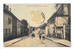 St-LEGER-sur-DHEUNE  (cpa 71)  Rue De Châlons - Carte Colorisée -    - L 1 - Andere Gemeenten