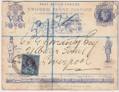 1890, Penny Postage Jubilee! Registered ,#7151