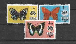 BHUTAN 1975 Y&T Nr° 447,448,450 (**) - Bhoutan