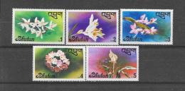 BHUTAN 1976  Y&T  Nr° 508/512 (**) - Bhoutan