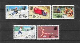 BHUTAN 1976  Y&T  Nr° 483/487 (**) - Bhoutan