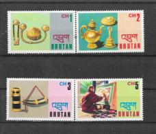 BHUTAN 1975  Mi.  Nr°  628,629,630,632(**) - Bhoutan
