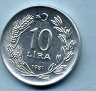1981 10 LIRA - Turkey