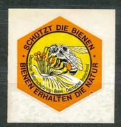 Vignette-  Schützt Die Biene   Mit Falz - Vignetten (Erinnophilie)