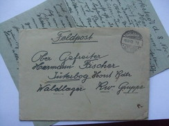 GERMANY WW2 FELDPOST ENTIRE BROKSTEDT TO LUFTWAFFE JUTERBOG WALDLAGER - Allemagne