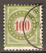 SUISSE    -   Taxe   -   1897.    Y&T N° 34 Oblitéré. - Taxe