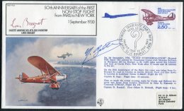 1980 France RAF FF22 Flight Paris - New York Concorde Signed Cover - Concorde