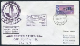 1979 South West Africa, SWA Cape Town Paquebot Polar Ship Cover. Gough Island Penguin - Navires & Brise-glace