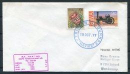 1977 Tristan Da Cunha Navire Paquebot Ship Cover. South Africa - Tristan Da Cunha
