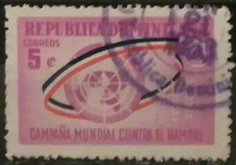 REPÚBLICA DOMINICANA 1963 Freedom From Hunger. USADO - USED. - Dominican Republic