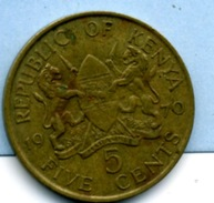 1970 5 CENTS - Kenia