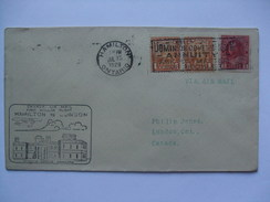 CANADA 1929 First Flight Cover - Hamilton To London Ontario - 1911-1935 George V