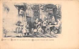 THEME JEU DE CARTES / Chine - Dames De La Famille D'un Mandarin Jouant Aux Cartes - Chine