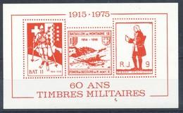 Vignette-  Block 1915-1975 Militaires  Postfrisch - Vignetten (Erinnophilie)