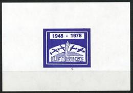Vignette-  Block 1948-1978 Luftbrücke  Postfrisch - Vignetten (Erinnophilie)