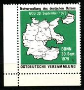 Vignette-  Notverwaltung Des Deutschen Ostens   1979    Ungebraucht / Ohne Gummierung - Vignetten (Erinnophilie)