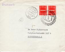 1953 Gelegenheidsstempel Assemblee Pleniere CCIT Arnhem Op Drukwerk Naar Rotterdam - Postal History