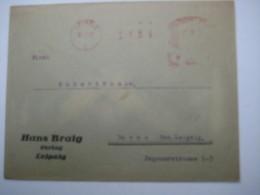 Firmen Freistempel , Meterstempel Auf Beleg Aus  LEIPZIG  1927 - Deutschland