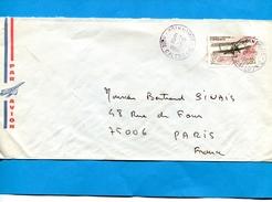 """MARCOPHILIE--nouvelle Calédonie-Lettre >Françe- Cad Poindimie-stamp N°A220-avion """"la Roussette"""" - Briefe U. Dokumente"""