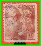 ESPAÑA    SELLO   FRANCO  AÑO  1940 - 1931-50 Usados