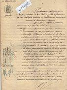 VP7628 - SAINTE LIVRADE - Acte De 1876 - Entre PELISSIE Pharmacien à BLIDA ( Algérie ) & FAUCHE à St ETIENNE DE FOUGERES - Manuscrits