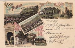 Gruss Aus Pitten-Litho 1899 - Pitten