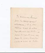 AUGUSTE VILLEMOT (VERSAILLES 1811 PARIS 1870) JOURNALISTE FRANCAIS LETTRE A SIGNATURE - Autographs