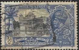 INDIA 1935 Silver Jubilee - Golden Temple, Amritsar - 31/2a. - Black And Blue FU - 1936-47 Roi Georges VI