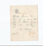 ATHALIE MANVOY (1842 1887) ARTISTE DRAMATIQUE FRANCAISE ET DEMI MONDAINE FASTUEUSE LETTRE A SIGNATURE 1867 - Autographs