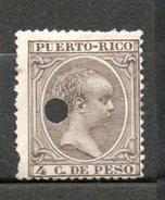 PUERTO RICO Alphonse XIII 1890 N°74 - Puerto Rico