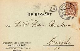 1923 Bk Met Firmalogo Van NIJMEGEN Naar Meppel - Periode 1891-1948 (Wilhelmina)