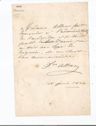 LOUISE ROSALIE ALLAN- DESPREAUX (1810 MONS 1856 PARIS) ACTRICE FRANCAISE (COMEDIE FRANCAISE) LETTRE A  SIGNATURE 1830 - Autographs