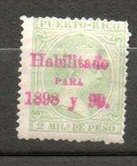 PUERTO RICO Alphonse XIII 1898 N°153 - Puerto Rico