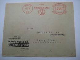 Firmen Freistempel , Meterstempel Auf Beleg Aus  LEIPZIG  1932 - Deutschland