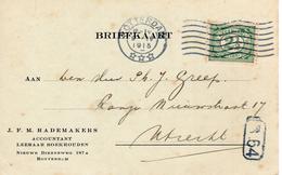1915 Bk Met Firmalogo Van ROTTERDAM Naar UTRECHT - 1891-1948 (Wilhelmine)